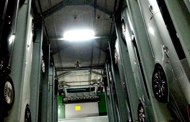 Elevator type mechanical car parking systems