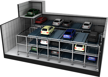 Cross type car parking systems