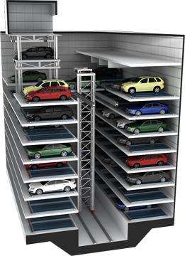 승강기슬라이드식 주차설비시스템